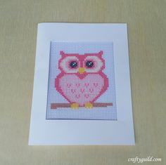 I'm so glad to be back here to share another cross stitch pattern. Today I'm gonna share the revised pattern for my pink owl cross stitch. This is so perfect to make as greeting cards f… Frozen Cross Stitch, Cross Stitch Owl, Cross Stitch Cards, Cross Stitch Designs, Cross Stitching, Cross Stitch Embroidery, Cross Stitch Patterns, Crochet Patterns, Lego Mosaic