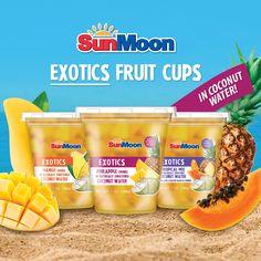 #SunMoon #Exotics #Fruit #Cups in #Coconut #Water