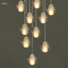 DIY Personnalisé Lustres En Cristal Éclairage Magique Boule de Cristal Meteor Style Lumières Pendentes G4 LED Lampes