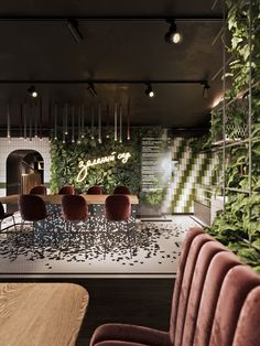 Best ways to decorate restaurant and unique ideas to do it! Interior design trends to decor your restaurant! Lounge Design, Bar Lounge, Cafe Design, Restaurant Interior Design, Commercial Interior Design, Home Interior, Interior Decorating, Luxury Interior, Design Bar Restaurant