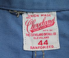 The Cleveland Overall Co. UNION MADE