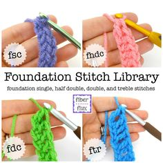 We've been learning all about foundation stitches for the past few weeks...here is the complete collection!  Learning and practicing th...