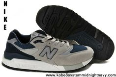 New Balance classic Grey deep Blue men shoes,Half Off New Balance Shoes  2013 Cheap