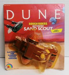 1984 Dune Rough Riders Motorized Sand Crawler by LJN NIP #LJN