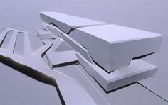 Zaha Hadid paper model. Love this. So simple yet so effective.