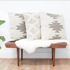 Aztec Throw Pillows in Cream & Grey | Inspired by Zapotec Patterns – The Citizenry