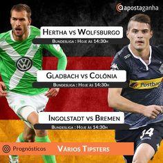 Bundesliga em alta no sabado de futebol. Confere nossa seleção de Prognósticos:  http://www.apostaganha.com/2016/02/20/prognostico-apostas-hertha-vs-wolfsburgo-bundesliga-11121221/  http://www.apostaganha.com/2016/02/19/prognostico-apostas-hertha-vs-wolfsburgo-bundesliga-12/  http://www.apostaganha.com/2016/02/20/prognostico-apostas-gladbach-vs-colonia-bundesliga-121211111/  http://www.apostaganha.com/2016/02/20/prognostico-apostas-ingolstadt-vs-werder-bremen-bundesliga/  200 euros de bônus…