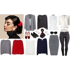 Audrey Hepburn wardrobe part 2 by kist-42 on Polyvore featuring Winser London, La Garçonne Moderne, MANGO, Velvet, rag & bone/JEAN, Twin-Set, Alexander Wang, French Connection, H&M and Monsoon