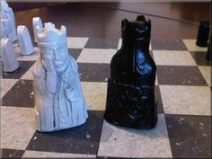 Isle of Lewis Chess Set Classic Jet Black and Two от oggtheclever