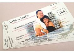 We Love This DIY Version Of Concert Ticket Save The Dates