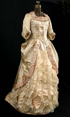 Fripperies and Fobs - Evening dress ca. 1882