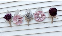 with burlap for corsages (kids)