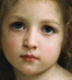 """William Adolphe Bouguereau, dettaglio dipinto """"Little girl"""" datato 1878 Classic Paintings, Paintings I Love, Baby Painting, Figure Painting, Traditional Paintings, Traditional Art, Contemporary Paintings, Portraits, Portrait Art"""