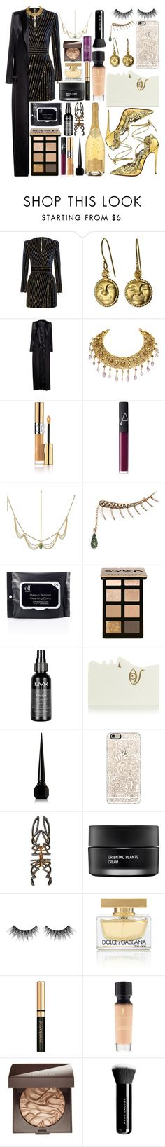 """Navegar Los 7 Mares"" by aida-indeguy ❤ liked on Polyvore featuring Balmain, Christian Louboutin, Anthony Vaccarello, Yves Saint Laurent, NARS Cosmetics, Ileana Makri, Bobbi Brown Cosmetics, NYX, Charlotte Olympia and Casetify"