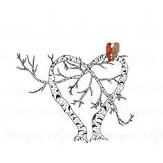 cardinal and birch tree tattoo - Google Search