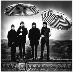 Beatles Umbrellas John Paul George Ringo Music Poster 11x11