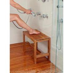 ARB Teak & Specialties 18 in. W Fiji Bathroom Shower Bench in Natural Teak-BEN531 - The Home Depot