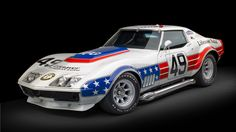 "cartastic:  1969 Chevrolet BFG ""Stars  Stripes"" Factory L88 ""ZL-1"" Greenwood Racing Corvette. Under the hood sits an all-aluminum  427-cubic inch Chevrolet ZL-1 engine producing over 750 hp @ 6,500 rpm. The car has been restored in 2008 by Corvette Repair of Valley Stream, New York and is to be sold at an auction by RM Auctions for an estimated price around $750,000-950,000. More info about the Corvette is available at RM Auctions. Photo by Ron Kimball, words by Cartastic."