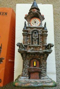 Dept 56 Snow Village Halloween Clock Tower Ghosts Goblins   eBay