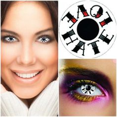 These UL13 Love Hate Coloured Contacts will transform your eyes and the way you look.