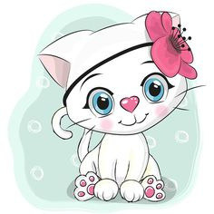 Illustration about Baby Shower Greeting Card with cute white kitten girl. Illustration of cartoon, girl, background - 99206444 Cartoon Cartoon, Kitten Cartoon, Cute Cartoon Girl, Cute Cartoon Animals, Cartoon Characters, Baby Shower Greetings, Baby Shower Greeting Cards, Cartoon Mignon, Image Deco