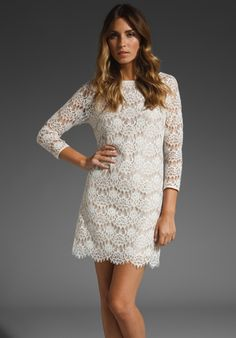 Tibi Swan Lace Shift Dress in White // dress inspiration for my fabulous seamstress