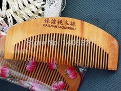 מסרק מברשת שיער טבעי מברשת שיער בתמיסת מסרקי מברשת שיער מסרק אפרסק עץ גברים נשים מיני נייד