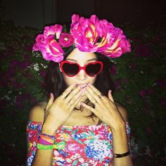 Now THAT's a flower crown (Rachel from That's Chic)