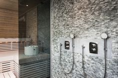 Oras Optima concealed thermostatic shower faucets.