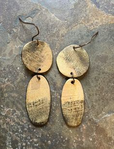 Polymer clay earrings by Linda Brooks