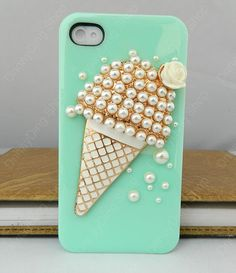 Ice cream Cartoon Style loves iphone case  iPhone by dnnayding, $19.99