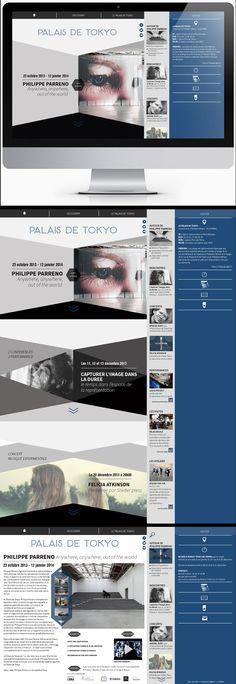 Projet d'école Refonte du site du Palais de Tokyo Conception UX Philippe Parreno, January 12