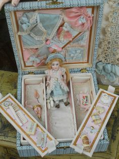 ~~~ Outstanding All Bisque Mignonette in Original Box ~~~ from whendreamscometrue on Ruby Lane