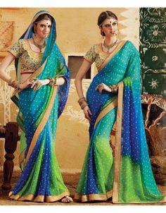 Fabulouos Multicolor Bandhani #Saree