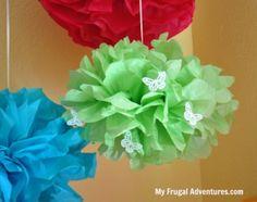 Embellished Tissue Paper Poms