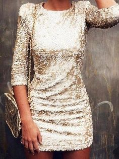 fashion, girl, gold dress, new years, outfit Holiday Party Outfit, Holiday Outfits, Holiday Dresses, Holiday Parties, Holiday Fashion, New Years Eve Dresses, New Years Outfit, Fashion Mode, Look Fashion