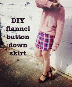 Flannel Shirt-Turned-Skirt
