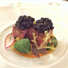 tuna and caviar