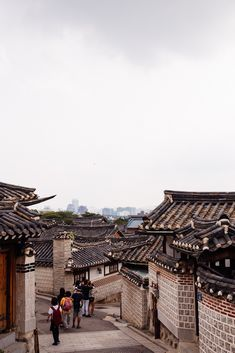 ☆Bukchon Hanok Village is a neighborhood built up on a hill comprising of a large number of traditional style wooden Hanok houses - Seoul, South Korea South Korea Seoul, South Korea Travel, Asia Travel, Food Travel, Beach Travel, The Places Youll Go, Places Around The World, Places To Go, Travel Tips