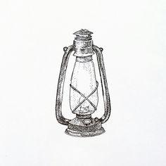 Feel The Light Lampu Petromak Lantern Lentera Vintage Practice Pointillism