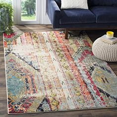 Safavieh Monaco Collection MNC222F Multicolored Area Rug, 5-Feet 1-Inch by 7-Feet 7-Inch