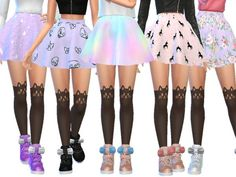 Pastel Gothic Skirts Pack Four by Wicked_Kittie at TSR • Sims 4 Updates