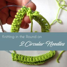 Learn how to knit in the round on 2 circular needles with Creative Knitting. Knitting Designs, Knitting Stitches, Free Knitting, Knitting Projects, Knitting Tutorials, Crochet Crafts, Knit Crochet, Creative Knitting, Knitting Magazine