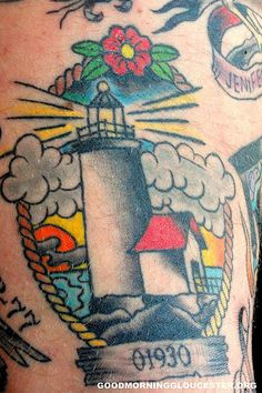 Another lighthouse tattoo. It's a design I've been thinking about for the future.