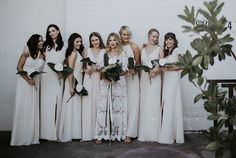 These Brides Rented Their Bridesmaid Dresses - See How It Turned Out. Photo by Jenavieve Belair Photography