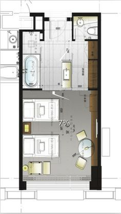Hotel plan but possible master bedroom suite possibility
