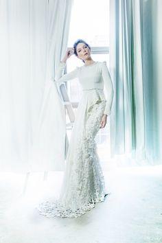 Mimpikita 2015 Bridal Collection. www.theweddingnotebook.com Hijab Wedding Dresses, Designer Wedding Dresses, Wedding Attire, Bridal Dresses, Wedding Gowns, Baju Nikah, Malay Wedding, Wedding Notebook, Mother Of Groom Dresses