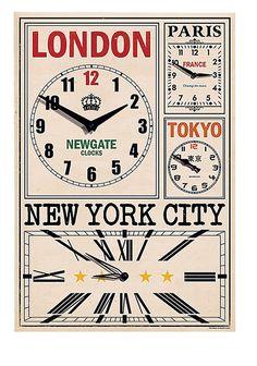 Wall clocks: World Travellers