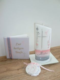 #Taufbrief passend zur #Taufkerze 100 % HANDARBEIT Foto & Design © by Sigrid Kiesenhofer Baby Baby, Candles, Quotes, Wedding, Design, Candlelight Wedding, Events, Decorating Candles, Quotations