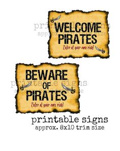 Instant Download PIRATE THEME Welcome Door by TwoLaughingLambs, $3.00